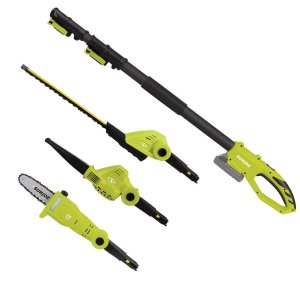 Sun Joe 24-Volt Cordless Lawn Care System Hedge Trimmer, Pole Saw, Leaf Blower-GTS4001C - The Home Depot