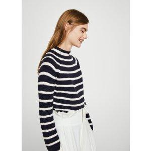 Knit striped sweater - Women | MANGO USA