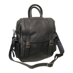 Amerileather Chestnut Brown Three-Way Leather Backpack | zulily