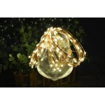 LED String Copper Wire Lights, Starry String Lights, 100 LEDs, 33 ft / 10 meters, Warm White, Decorative Rope Lights For Seasonal Christmas Holiday