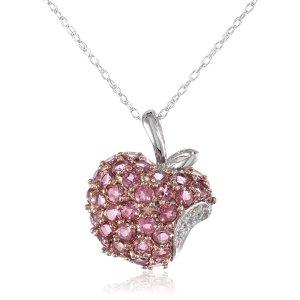 玫瑰金苹果钻石项链