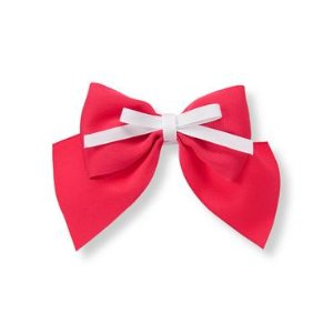 Baby Girl Bright Rose Tiered Bow Clip at JanieandJack