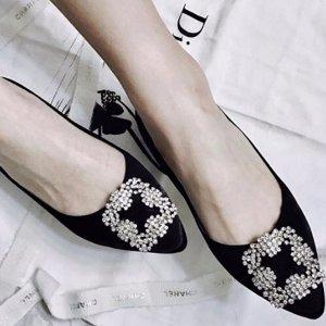 最高送$1,000礼卡+无税 经典钻扣Manolo Blahnik 女士鞋履热卖 白钻也有