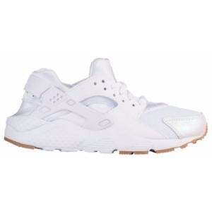 Nike Huarache Run - Girls' Grade School - Running - Shoes - White/White/Prism Pink/Gum Light Brown