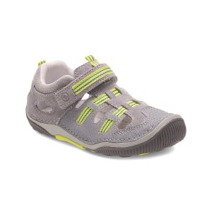 Stride Rite Gray & Lime SRT Reggie Leather Sandal | zulily