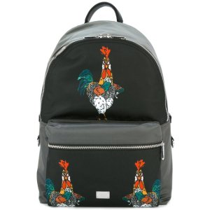 Dolce & Gabbana Volcano Rooster Print Backpack - Farfetch