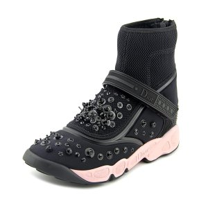 Dior Dior Fusion Strap High Sneakers Women Synthetic Black Fashion Sneakers | Bluefly.Com