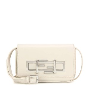 Mini 3Baguette leather shoulder bag