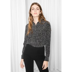 Dot Print Silk Shirt - Black/Dots - & Other Stories