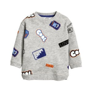 Sweatshirt with Motif | Gray melange | Kids | H&M US