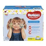 HUGGIES Simply Clean Baby Wipes, Fresh Scent, Soft Pack , 648 Ct