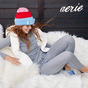 6折+ 无门槛包邮AE 精选Aerie内衣裤、家居服等限时热卖,内裤10条$35还包邮