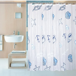 Shower Curtain Liner with 12 Curtain Hooks Clear Shower Curtain Liner Mildew Resistant Waterproof Plastic Shower Curtain Liner Seashell Conch Starfish 72×72 Inch Shower Curtain Liner by Yivion