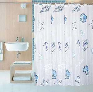 6 shower curtain liner with 12 curtain hooks clear shower curtain liner mildew resistant waterproof plastic
