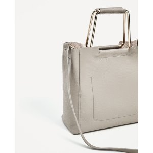 SOFT TOTE BAG WITH METALLIC HANDLES - View all-BAGS-WOMAN | ZARA United States