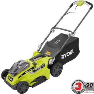 Ryobi 16 in. ONE+ 18-Volt Lithium-Ion Cordless Lawn Mower with 2 Batteries-P1111 - The Home Depot