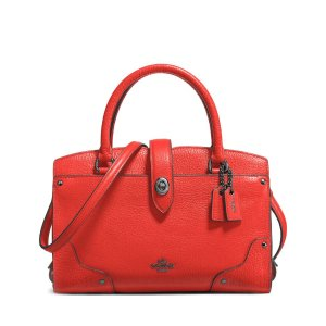 COACH Mercer Satchel 24 in Grain Leather | Bloomingdale's