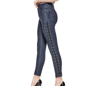 1981 Lace-Up Skinny Jeans at Guess