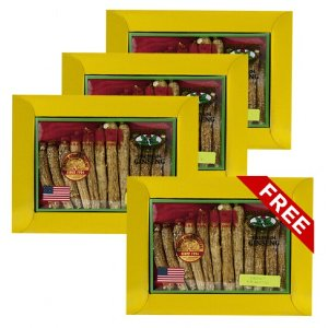 Long American Ginseng Large 4oz box x 4 (Buy 3 get 1 free)