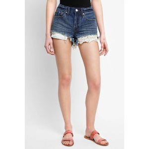 Free People Daisy Chain Lace Denim Shorts   South Moon Under