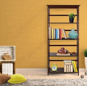 Casual Home 324-53 Montego 5-Tier Bookcase, Espresso