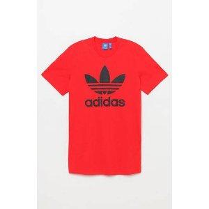 adidas Trefoil Red & Black T-Shirt at PacSun.com