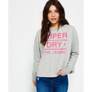Superdry Athletic League Loopback Crew Neck Sweatshirt - Women's Tops