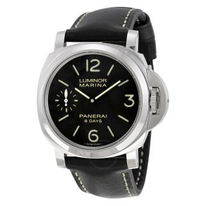 $4895PANERAI Luminor Marina Black Dial Black Leather Men's Watch PAM00510