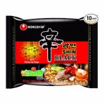Nongshim Shin Black Noodle Soup, Spicy, 4.58 (Pack of 10)