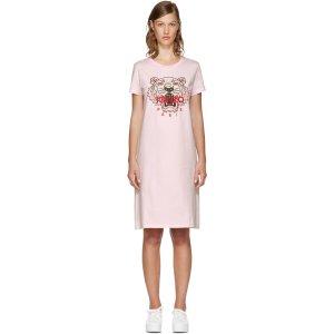 Kenzo: Pink Limited Edition Tiger T-Shirt Dress | SSENSE