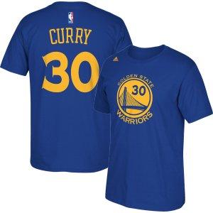 adidas Men's Golden State Warriors Steph Curry #30 Royal T-Shirt