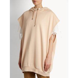 Leni sleeveless hooded cotton sweatshirt | Acne Studios