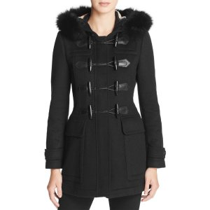 Burberry Blackwell Fur Trim Wool Duffle Coat | Bloomingdale's