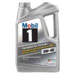 Mobil 1 120760 Synthetic Motor Oil 0W-40, 5 Quart