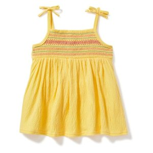 Embroidered-Yoke Swing Top for Toddler