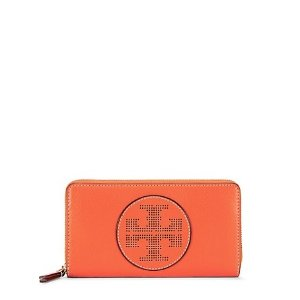 Tory Burch Perforated-logo Zip Continental Wallet