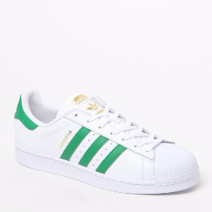 adidas Superstar White & Green Shoes at PacSun.com
