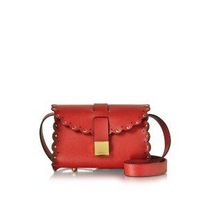 Furla Red Amazzone Leather Crossbody w/Leather Strap