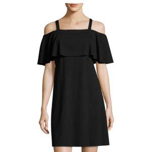 Philosophy Ruffled Cold-Shoulder Dress