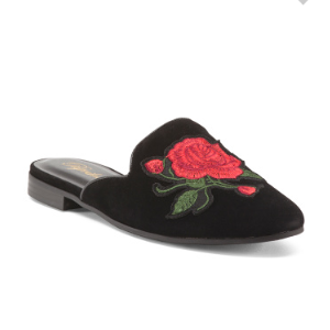 Rose Applique Mules