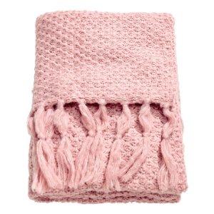 Moss-knit Throw | Light pink | H&m home | H&M US