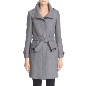 Gibbsmoore Funnel Collar Trench Coat
