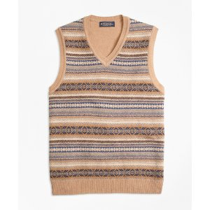 Lambswool Fair Isle Vest - Brooks Brothers
