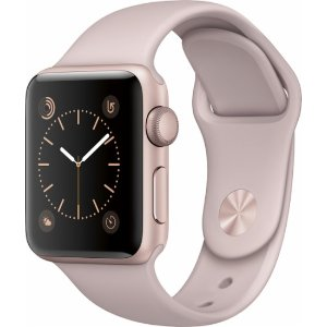Apple Apple Watch Series 2 38mm Rose Gold Aluminum Case Pink Sand Sport Band Rose gold MNNY2LL/A - Best Buy