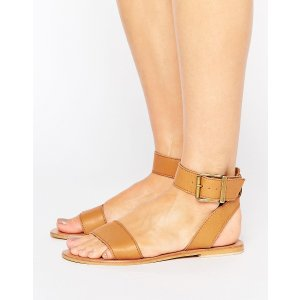 ASOS FLEEK Leather Two Part Sandals