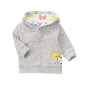 Baby Heather Grey Sunny Hoodie by Gymboree