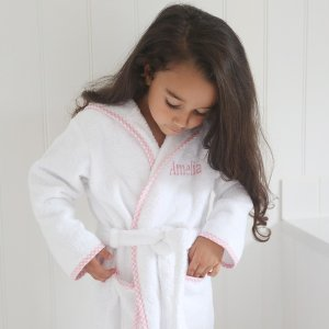 Gingham Pink Trim Robe | Baby Girl Clothes | My 1st Years