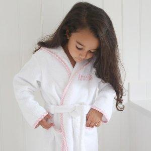 乔治王子同款女孩版全棉浴袍