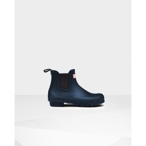 Womens Blue Chelsea Boots | Official Hunter Boots Store