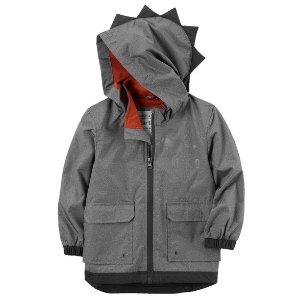 Jersey-Lined Dinosaur Raincoat